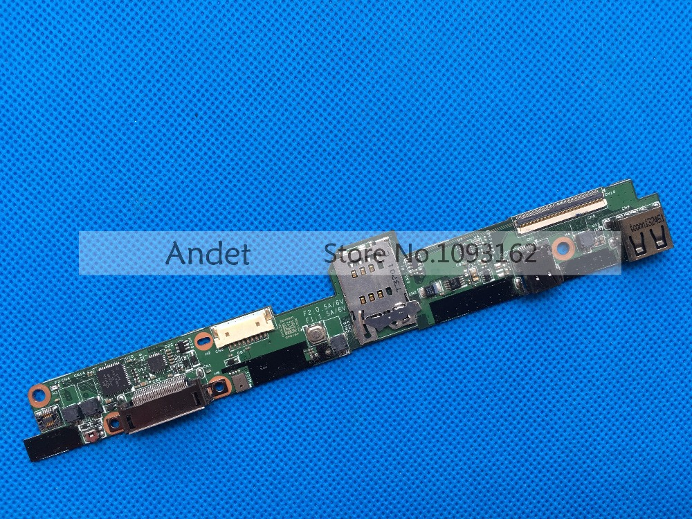 USB Dock Tablet I/O Board For Lenovo Thinkpad X1 Helix 3XXX Series FRU 04X0511 48.4WW02.031 0C55439 usb dock board w cable for lenovo thinkpad helix 3xxx series fru 04x0511 48 4ww02 031 0c55439