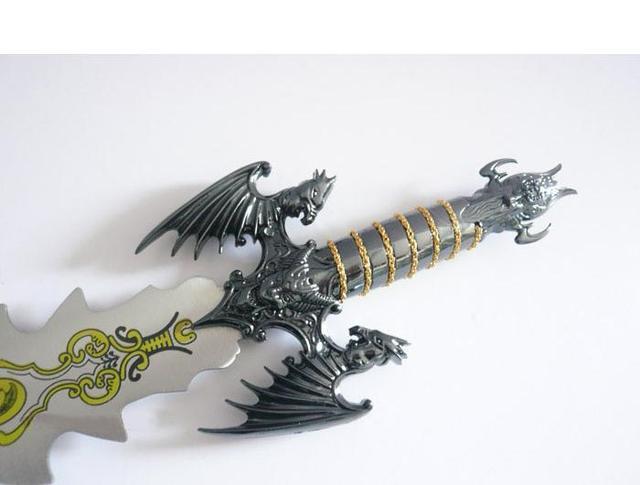 S0136 Fantasy Flying Horse Pegasus Demon Devil Evil Monster Black