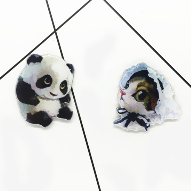 Hot Clothing Accessories Animal  Dogs Cartoon Girls Boys Fashion Cat Brooches Gift Bag Ornament  Pin Jewelry Denim Coat Badge