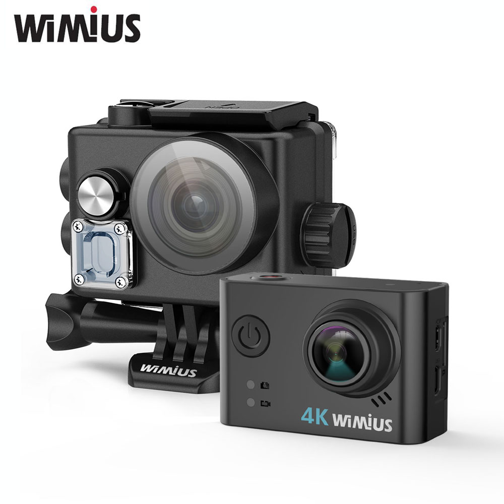 Wimius L2 Action Camera 4K FPV USB TV Out Mini Video Sports Helmet Cam Full HD 1080P 60fp Go Waterproof Pro Wide Angle Car DVR eken mini sports action cameras h9 h9r wide angle 4k 25fps hd video helmet cam 2 0 go underwater pro vr go pro cameras