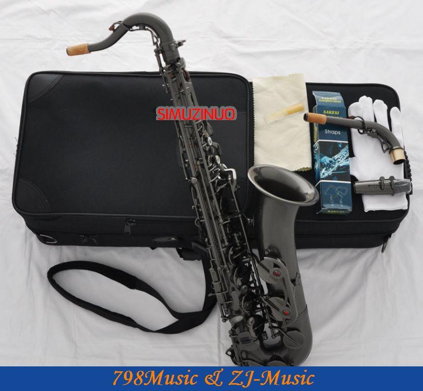 Professional Satin Black Nickel Plated C Melody Saxophone Sax High F# 2 Necks короткая куртка black melody bm15b2125 2015