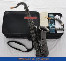 Professional Satin Black Nickel Plated C Melody Saxophone Sax High F# 2 Necks
