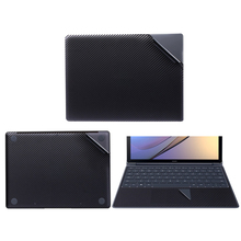 Black Carbon Laptop Sticker for Huawei MateBook E 12 D 15.6 inch Notebook Vinyl Decal Laptop Skin for Matebook X 13.3 X Pro 13.9 цена 2017
