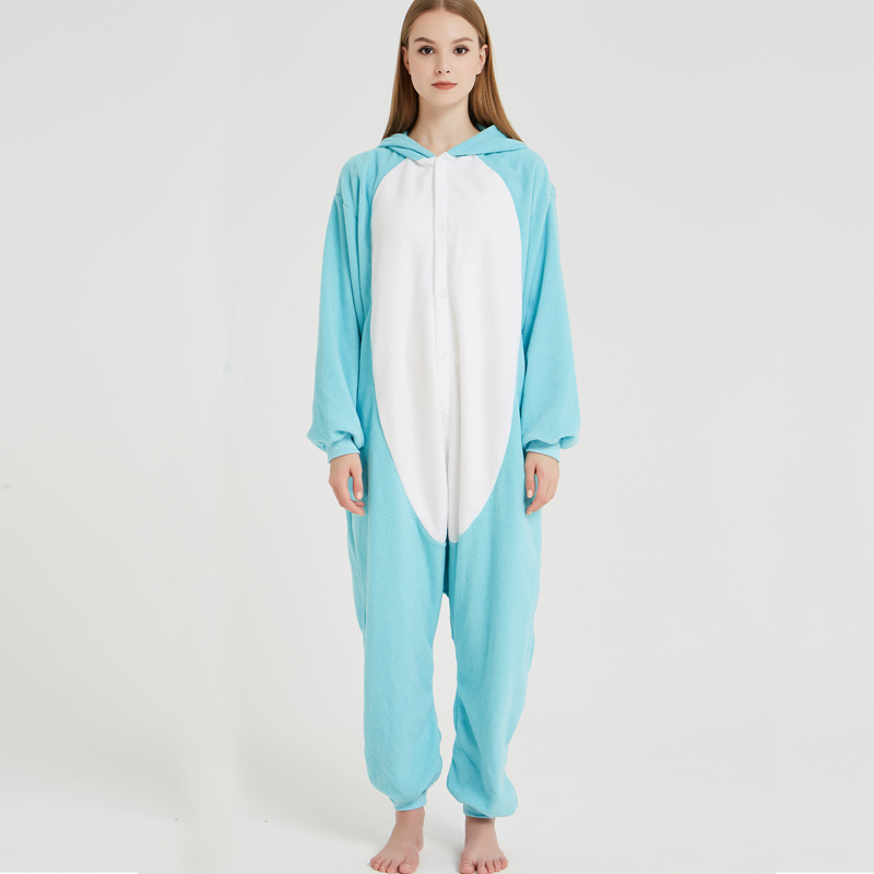 Elephant Adult Pajamas Polar Fleece Onesies Kigurumi For Halloween Pink One-piece Jumpsuit Siamese Cosplay Custome (1)