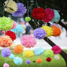 25cm 10inch Tissue Paper Flowers paper pom poms balls lantern Party Decor Craft Wedding multi color