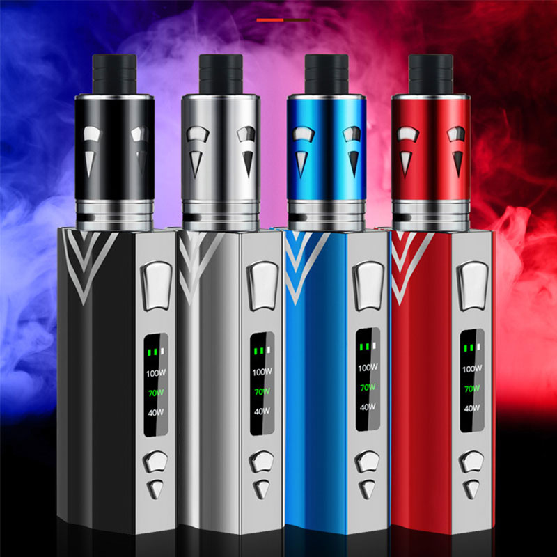 100w Diamond Vape Kit E Cigarette Vaper 2000mAh Battery 3 5ml With Huge Vapor Atomizer Electronic Cigarette Vaporizer box vape in Electronic Cigarette Kits from Consumer Electronics