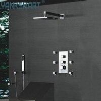 Yanksmart новый смеситель Клапан матовый 8 Осадки Насадки для душа Средства ухода за кожей массаж струями душа spa душа Установить cm0568