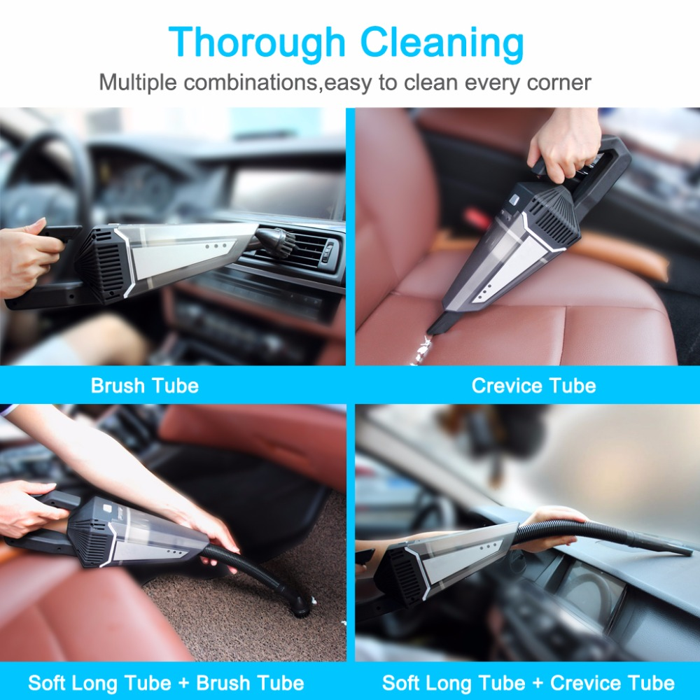 Cordless Car Vacuum Cleaner 4500PA Powerful Suction Aluminum Fan Blade WetDry Vacuum Cleaner Rechargeable And Portable With Carrying Bag For CarHome (7)