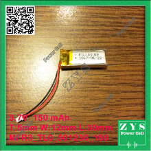 501230 three.7V 150mah Lithium polymer Battery with Safety Board For PDA Pill PCs Digital Merchandise 5x12x30mm 150 mAh