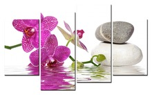 Hot Sales Without Frame 4 panel image magnolia flower canvas print art wall wholesale XJDC12-110