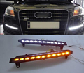 For 2007-2009 Audi Q7 22-LED Direct Fit LED Daytime Running Lights w/Turn Signal