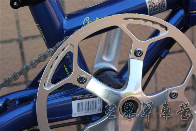 """Fnhon CR-MO Steel Folding Bike 16"""" Minivelo Mini velo 9 Speed Bike  Bicycle overall bike V Brake"""