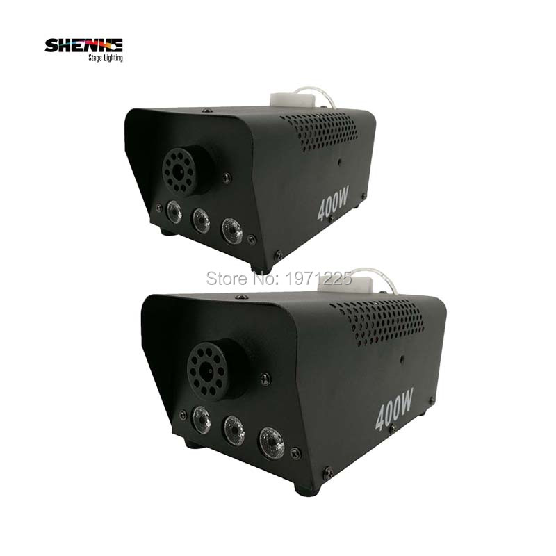 ФОТО (2pcs) dj lighting equipment Remote Control 400W small Smoke Machine show equipment stage fog machine rookmachine