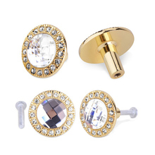 10pcs 30mm Diamond Shape Crystal Glass Alloy Door Drawer Cabinet Wardrobe Pull Handle Knobs Drop Worldwide Store With Screw