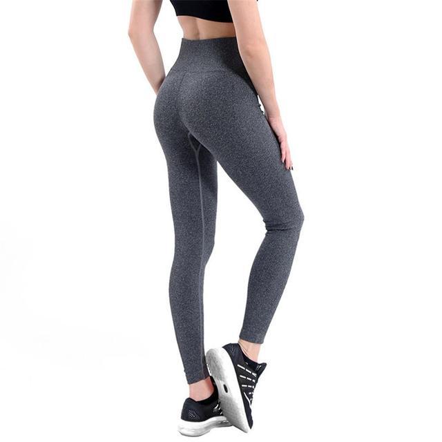fb5a03e4715b9 Women Energy Slim Elastic Yoga Fitness Pants Super Stretchy Gym Tights High  Waist Sport Leggings Running Ladies Pants Trousers