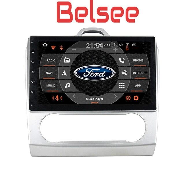 Belsee 10,1 дюймовый экран Радио 2 din Android 8,0 Штатная dvd gps-навигация стерео аудио HD для Ford Focus на 2 3 mk2 2006-2011
