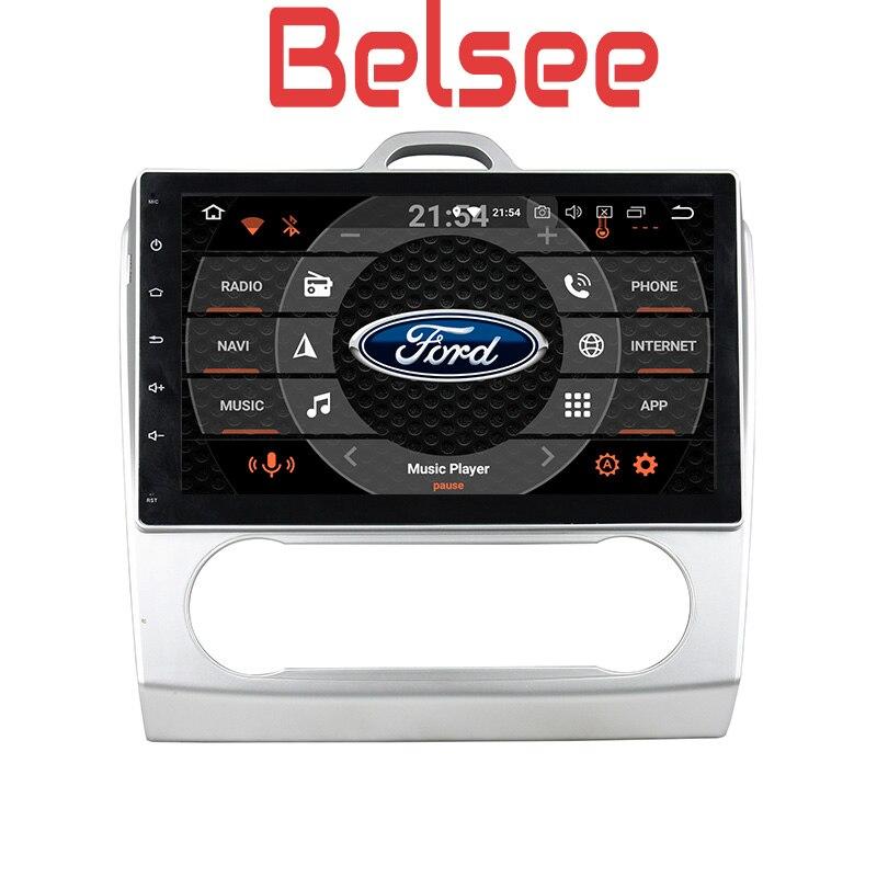Belsee 10.1 pouces écran radio 2 din Android 8.0 autoradio dvd gps navigation stéréo audio HD pour Ford Focus À 2 3 mk2 2006-2011
