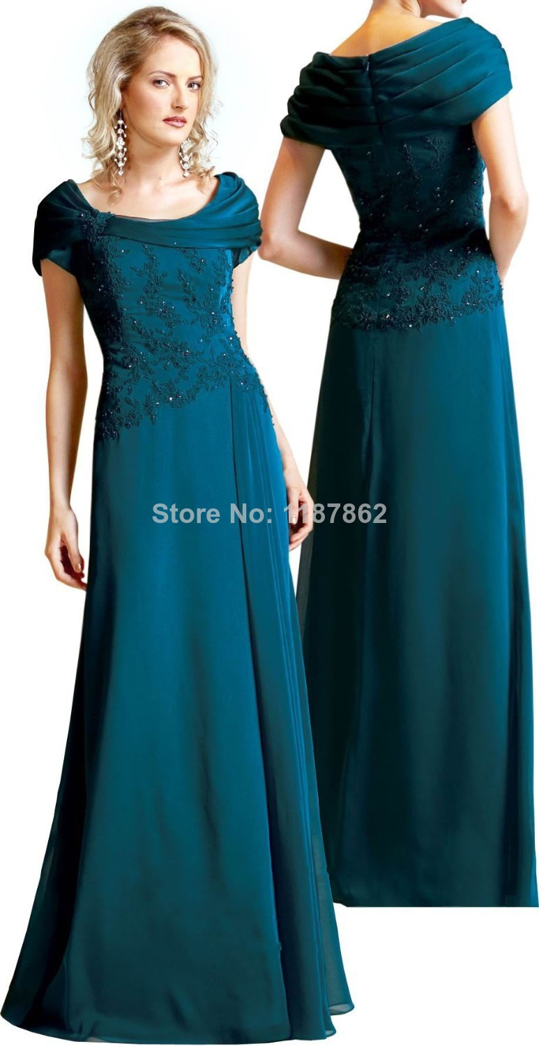 MD 0055 Scoop Plus Size Mother Dresses for Beach Weddings ...