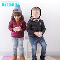 2016 зима новый детская одежда мальчиков и девочек тонкий срез хлопок девушка вниз пальто толстый зимний мальчик пуховик зимой теплый