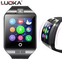 LUOKA Q18 Passometer Smart Watch With Touch Screen Camera Support TF Card Bluetooth Smartwatch For Android