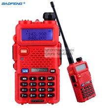 5W Walkie talkie Baofeng UV-5R Ham Radio Dual Band Radio 136-174Mhz 400-520Mhz Baofeng UV5R handheld Two Way Radio Red