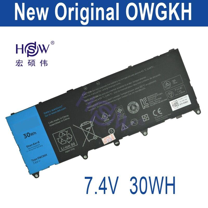 HSW 7.4V 30WH battery for DELL 0WGKH OWGKH laptop battery rechargeable battery bateria akku hsw battery 7 4v 6840mah 50wh for asus zenbook ux31a ux31e c22 ux31 laptop battery bateria akku