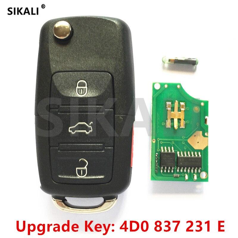 SIKALI 231E Autofernschlüssel 315 MHz für AUDI A4 S4 A6 A8 TT Allroad Cabriolet 4D0837231E 4D0 837 231 E 1997-2005