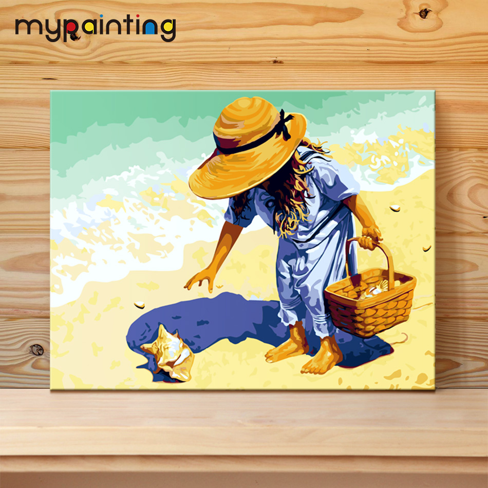 Seaside DIY Painting By Numbers Handpainted Canvas Painting Home ...