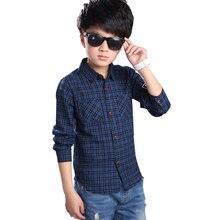 2016 Children's Shirt Han Edition Fashion Long Sleeve Printing Plaid Boy Shirt Autumn Handsome Slim Button Tide Boys Shirt Coat