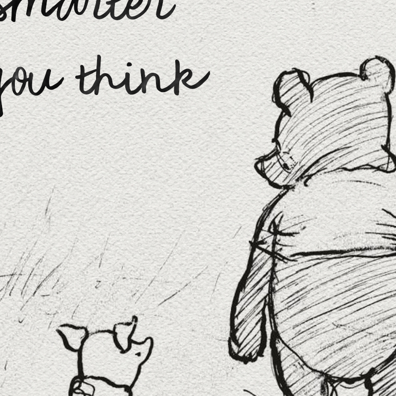 Winnie The Pooh Quotes Canvas Posters and Prints Classic Cartoon Movie Art Painting Black White Picture Kids Room Wall Art Decor