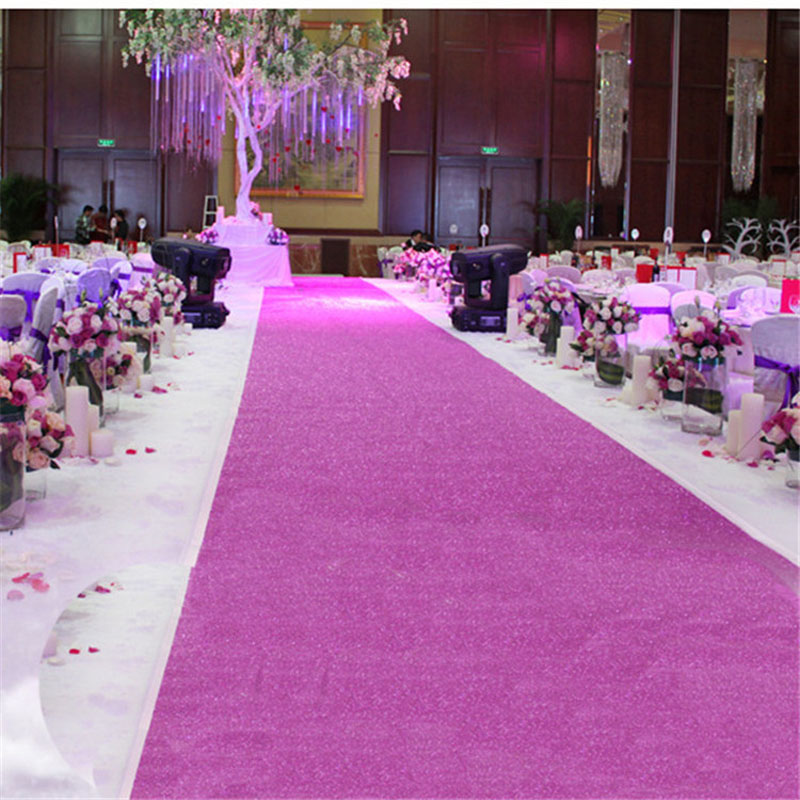 10 Meter Even Sparkle Carpet Glitter Aisle Runner Stage Runner Party Wedding Banquet Carpet Gold Silver Pink Purple Fuchsia