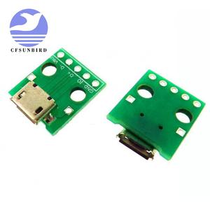 Dip-Adapter Pcb 1pcs Converter Pinboard Female-Connector-B-Type Micro-Usb 5pin