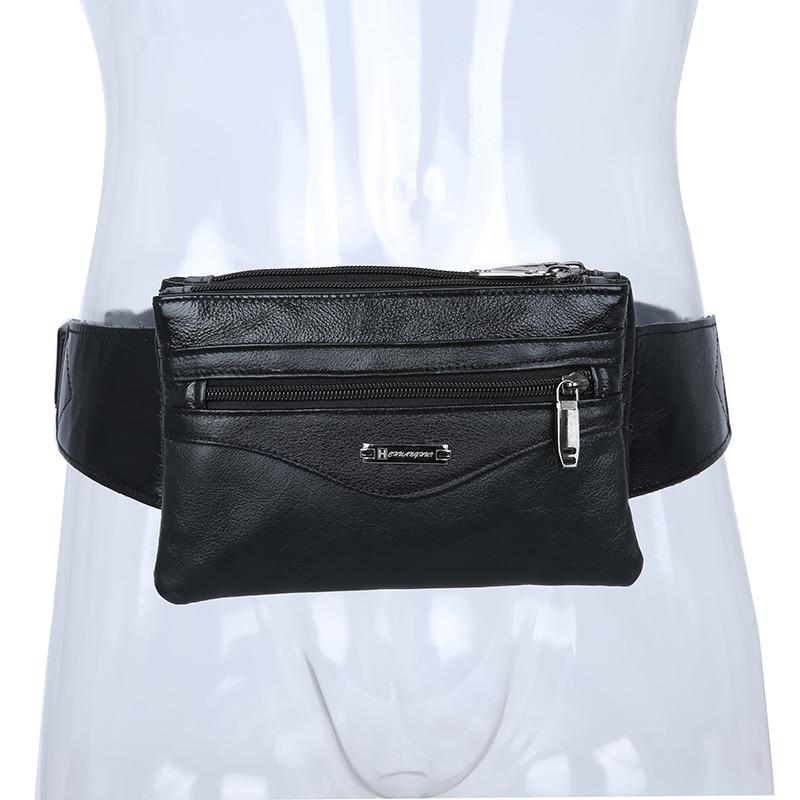 Casual Business Cow Äkta Läder Män Midja Pack Crossbody Bag Mode - Bälten väskor - Foto 4