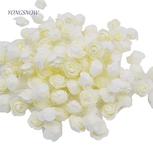 30pcs/lot 3.5cm PE Foam Rose Multi-use Artificial Flower Head Handmade With Tulle DIY Wedding Home Party Decoration Supplies