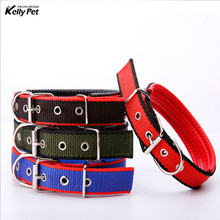 2019 New Nylon Dog Collars Comfortable Adjustable Mesh Padded Reflective Pet Collar Necklace for Training Outdoor