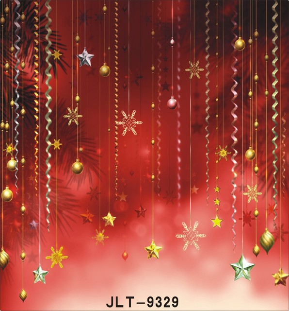 Christmas Party Decoration Photography Backdrops Red Festival Photo Studio Background