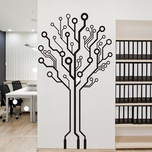 Aliexpress.com : Buy Modern Abstract Geometry Tree 3D Wall Stickers ...