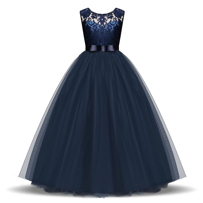 Kids Dress for Girls 5 6 8 10 Year Birthday Wedding Tulle Lace Long Girl Dress Elegant Princess Party Gown Teen Children Clothes kids princess costumes tulle party toddler girl children formal clothes 2 3 4 5 6 year birthday dress for girls birthday outfits