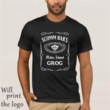 SCUMM Tshirt Aap Eiland COCKTAIL2017 Baru Kursus Mouw Mannen Kursus Mouw Mode Zomer Printing Kasual(China)