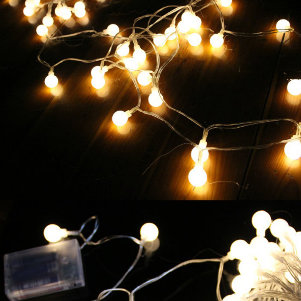 10pcs/lot Led Bulb String Battery Operated Led String Light Festival Party OutdoorGarden Christmas Holiday Wedding Decorative