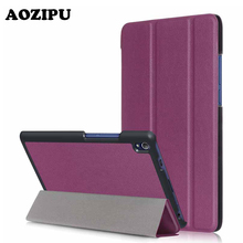 Good Wake/Sleep PU Leather-based Slim Funda Pill Case for Lenovo Tab3 Tab three eight Plus / Lenovo P8 TB-8703F eight.zero Protecting Stand Cowl