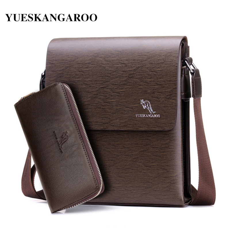 YUES KANGAROO 2017 Brand Quality Men Bag Vintage Leather Handbags Small Crossbody Men's Messenger Bags Casual Shoulder Bag yues kangaroo brand men bag leather casual high quality shoulder crossbody bags classical business briefcase mens messenger bag