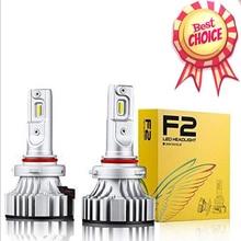 1 Set H4 F2 Auto Led Koplamp 9003 H1 H7 H8 H9 H11 9005 9006 HB3/4 9012 72W 12000LM Csp Chips Turbo Fan 6000K Front Lampen Lampen