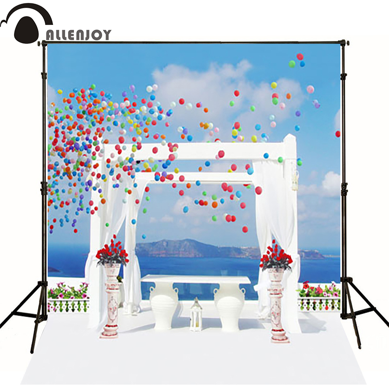 AllenJoy seaside wedding photo wall  romantic photo background Photocall for weddings balloons photo background seaside te1211bmult 1100997