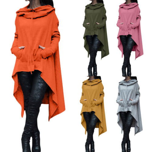 Caldi delle Donne Manica Lunga O-Collo Del Cotone Con Cappuccio 5 Colori Felpa Pullover Magliette Casual Camicetta Ponticello
