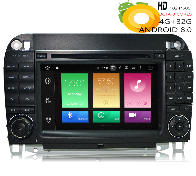 HIRIOT Car Android 8.0 DVD GPS Player For MERCEDES <font><b>BENZ</b></font> S-Class <font><b>W220</b></font> W215 S300 S350 <font><b>S500</b></font> Auto Radio IPS Octa Core 4G RAM 32G ROM image