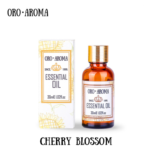 Известный бренд oroaroma чистый натуральный Cherry Blossom эфирное масло отбеливания кожи восстановить эластичность кожи Relax Cherry Blossom нефть
