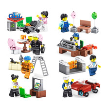 258Pcs 02058 Compatible City 60134 Fun In The Park Set Mini Minifigs figures Pack Model Building Blocks kits Toys Kids, KY98216