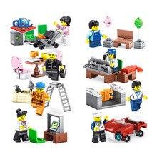 258 pcs 02058 Compatível Cidade 60134 Pacote de Diversão No Parque Conjunto de Mini figuras Minifigs Blocos de Construção do Modelo kits de Brinquedos crianças, KY98216