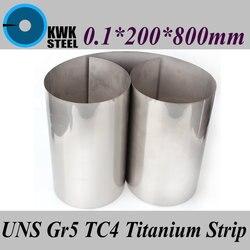 0,1x200x800 мм титановый сплав полосы UNS Gr5 TC4 BT6 TAP6400 титана Ti фольга тонкий лист промышленности или DIY Материал Бесплатная доставка